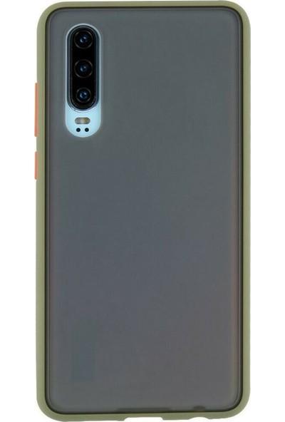 Teleplus Samsung Galaxy A50 Fri Mat Yüzey Defence Silikon Kılıf + Nano Ekran Koruyucu Yeşil