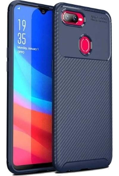Teleplus Oppo A5s Ultra Soft Negro Karbon Silikon Kılıf Lacivert