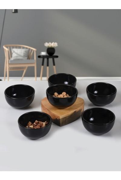Keramika Siyah Bulut Çerezlik/Sosluk 8 Cm 6 Adet