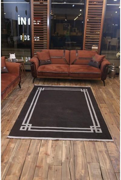 Rugs Italia Black 80 × 150 cm Minimalist Halı