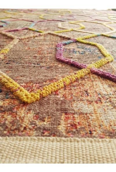Rugs Modern Nakkaş 80 × 150 cm Pastel Tonlarda Geometrik Desenli Halı
