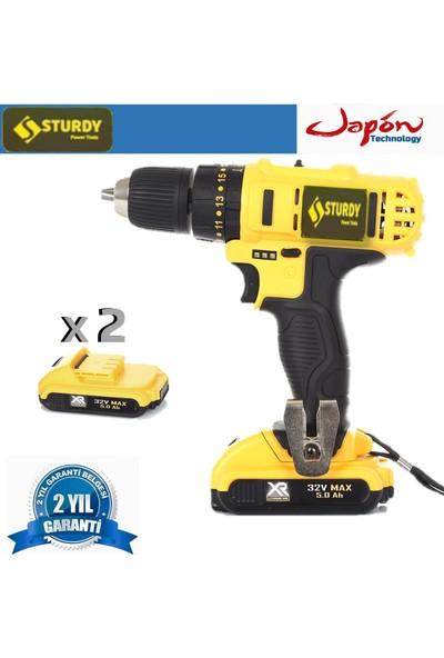 Sturdy Power Tools 32 V 5 A Darbeli Professional Şarjlı Vidalama Matkap
