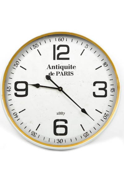 Antiquite De Paris Gold Kenarlı Yuvarlak Saat