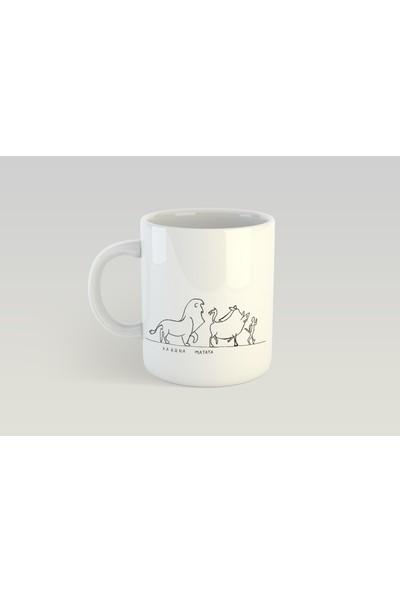 Minimalist Mug Designs Minimal Özel Lion King Tasarımlı Kupa