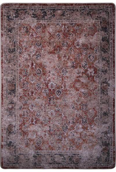 Caricia - Sultan Terracota Klasik Halı Dijital Baskı Lateks Dolgu Taban 120 x 180 cm CH-100584 / V03