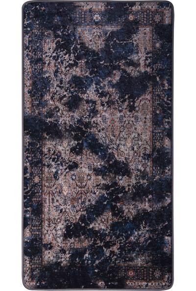 Caricia - Eti Etnik Desenli Halı Dijital Baskı Lateks Dolgu Taban 80 x 150 cm CH-100589