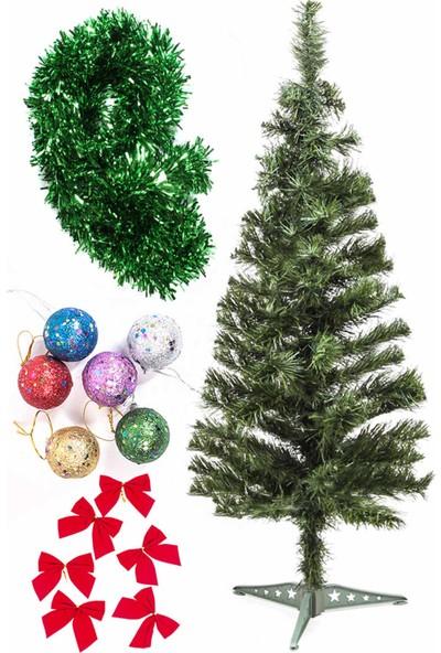 Kullan At Market Yılbaşı Ekonomik Süslü Ağaç Seti 90 cm Model-105