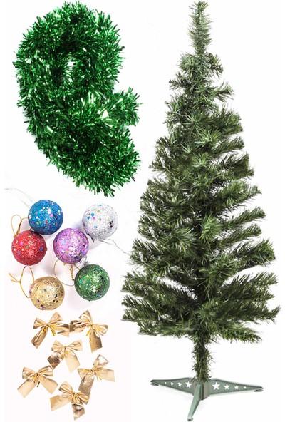 Kullan At Market Yılbaşı Ekonomik Süslü Ağaç Seti 90 cm Model-109