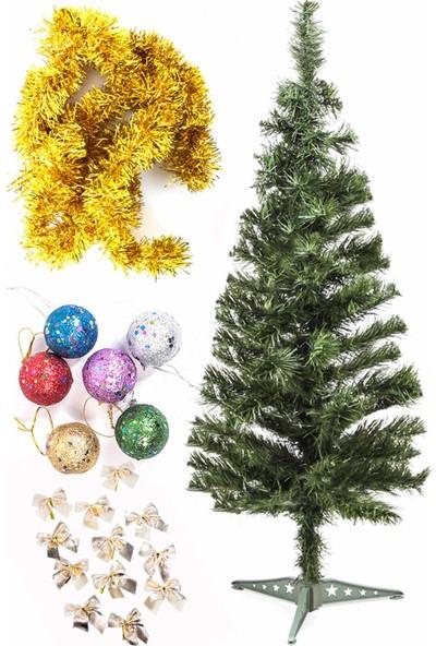 Kullan At Market Yılbaşı Ekonomik Süslü Ağaç Seti 90 cm Model-13