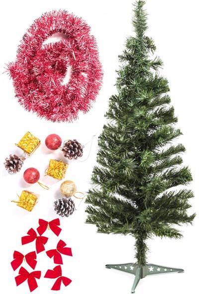 Kullan At Market Yılbaşı Ekonomik Süslü Ağaç Seti 90 cm Model-24