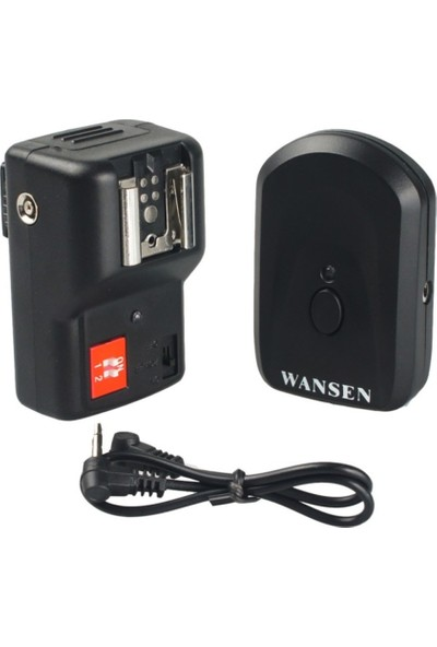 Wansen Canon İçin Kablosuz Flaş Tetikleyici Trigger 1+1