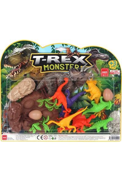 Mgs Oyuncak Büyük Dinazor Kartela Trex Monster Dinazor Set 3609