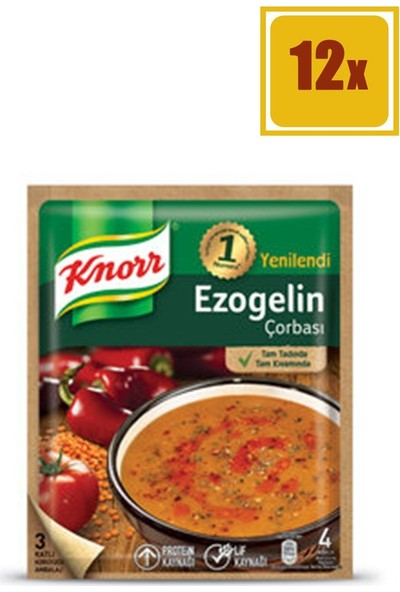 Knorr Ezo Gelin 65 gr Çorba 12'li Set