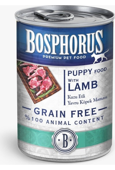 Bosphorus Tahılsız Kuzu Etli Yavru Köpek Maması - 12'li