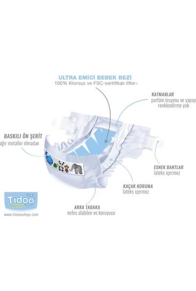 Tidoo Nature Bebek Bezi 4 Beden Numara 7-18 kg 24X4 96 Adet Ekolojik Antialerjik