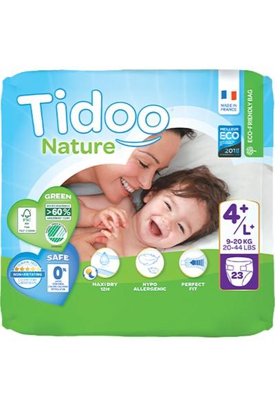 Tidoo Nature Bebek Bezi 4+ Beden Numara 9-20 kg 23'lü Ekolojik Antialerjik