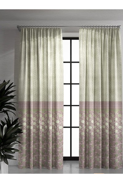 İtaly Design Home Pano Fon Perde 9014 70 x 250 cm