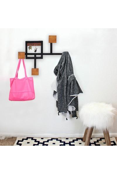 Mavienerji Dekoratif Elbise Askılık Ferforje Anahtar Takı ve Çamaşır Askısı