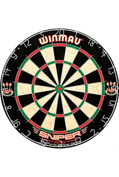 Winmau Profesyonel Dart Seti Winmau Sniper Dart Tahtası, 6 Adet Winmau Ok, Ahşap Kabin
