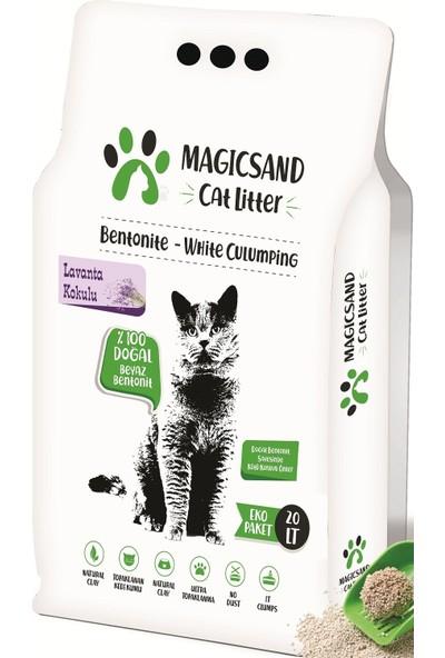 Magicsand Cat Litter Lavanta Kokulu Kalın Taneli Kedi Kumu 20 l