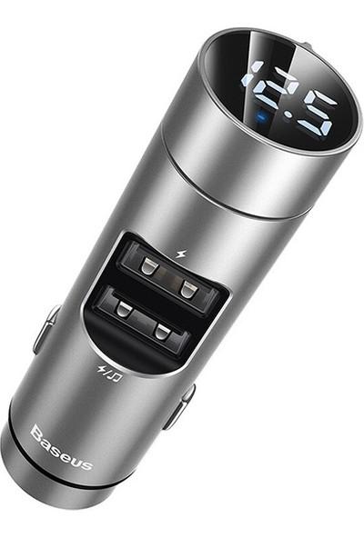 Baseus Ccnlz-0s Energy Column Bluetooth 5.0 Araç Mp3 Dual USB Araç Şarjı