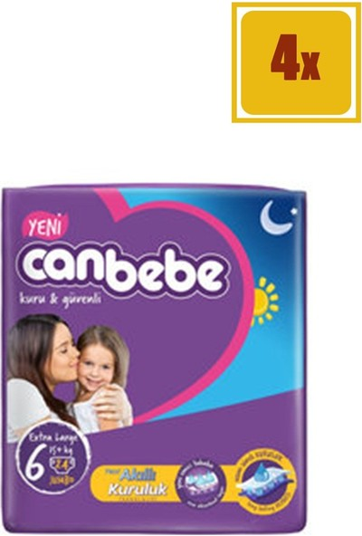 Canbebe Bebek Bezi Jumbo No:6 15+ kg 24 x 4'lü Set