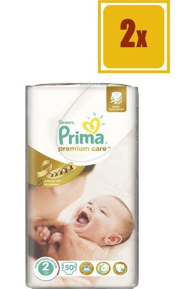 Prima Premium Care No.2 3-6 kg 50 x 2'li Set