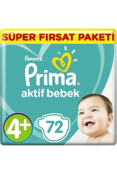 Prima Aktif Bebek Süper Fırsat 4+ Beden Maxi Plus 72 x 2'li Set