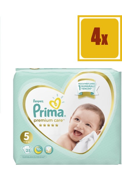 Prima Premium Care 5 Beden Junior 25 x 11-16 kg 4'lü Set