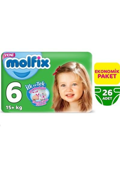 Molfix Extra Large Jumbo Paket No.6 15+ kg 4'lü Paket Bebek Bezi 4'lü Set
