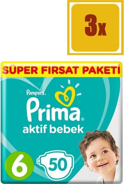 Prima Aktif Bebek 6 Beden Xl Süper Fırsat Paketi 50 x 3'lü Set