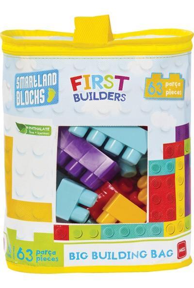 Mgs Oyuncak Smartland Big Blocks LEGO Çantalı 63 Parça URT-5826