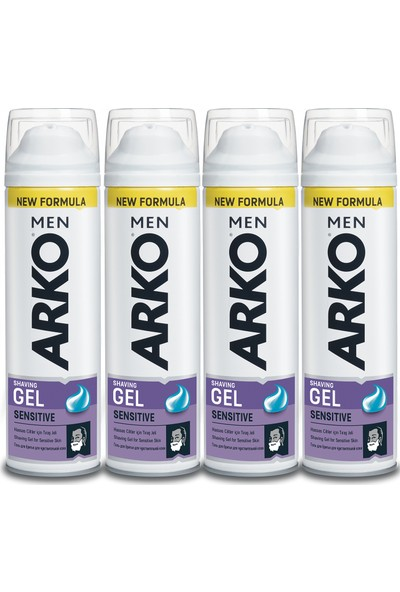 Arko Men Sensitive Tıraş Jeli 4x200ml