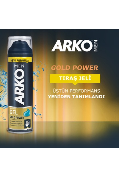 Arko Men Gold Power Tıraş Jeli 2x200ml