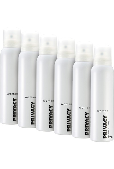 Privacy Women Deodorant 6x150ml