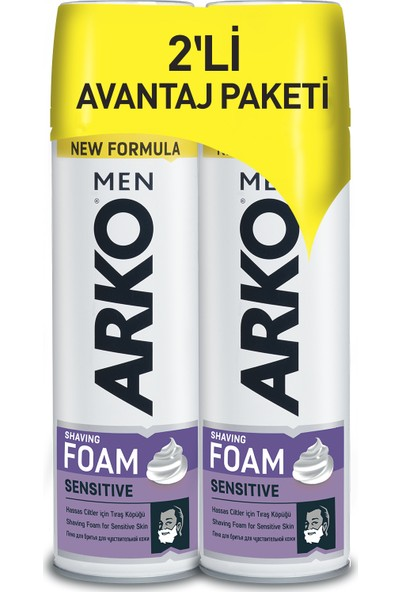 Arko Men Sensitive Tıraş Köpüğü 2x200ml