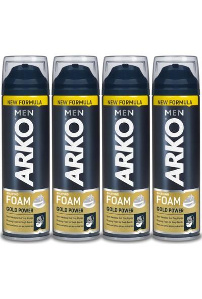 Arko Men Tıraş Köpüğü Gold Power 4x200ml