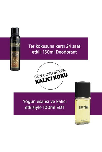 Bellissima EDT Parfüm 60ml + Deodorant 3x150ml