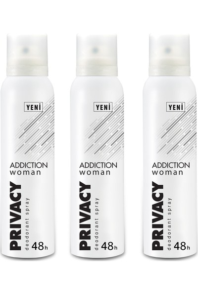 Privacy Woman Addiction Kadın Deodorant 3x150ml