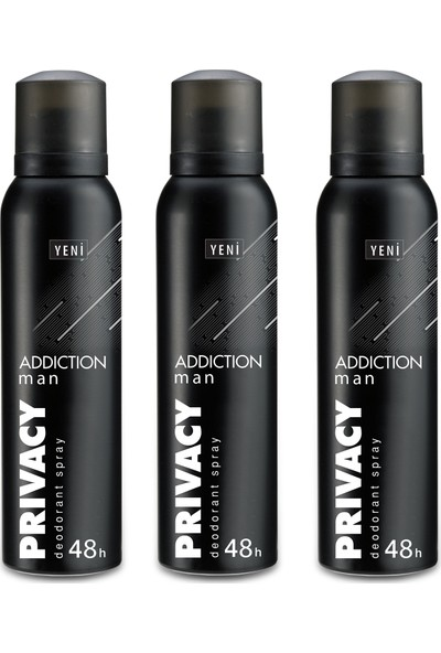 Privacy Man Addiction Erkek Deodorant 3x150ml