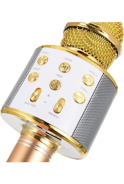 Microsonic Karaoke Bluetooth Mikrofon Gold
