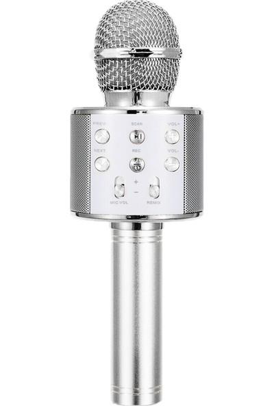 Microsonic Karaoke Bluetooth Mikrofon Gümüş