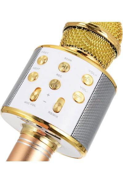 Microsonic Karaoke Bluetooth Mikrofon Pembe