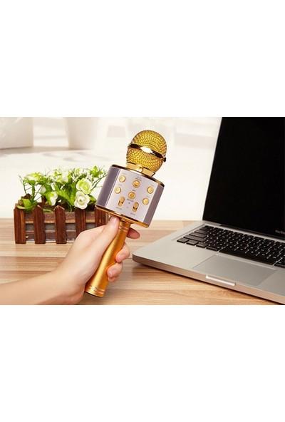 Microsonic Karaoke Bluetooth Mikrofon Mavi