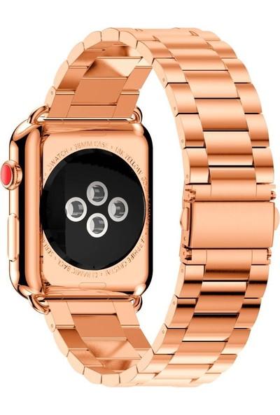 Aksesuarkolic Apple Watch 42-44 mm Metal Kordon Kayış - Gold
