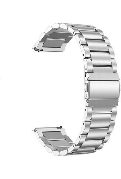 Aksesuarkolic Apple Watch 42-44 mm Metal Kordon Kayış - Gümüş