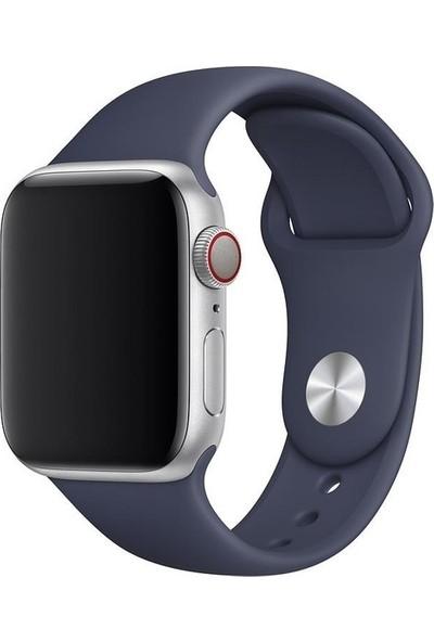 Aksesuarkolic Apple Watch 42-44 mm Silikon Kordon Kayış - Lacivert