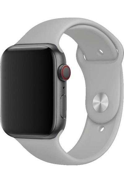 Aksesuarkolic Apple Watch 38-40 mm Silikon Kordon Kayış - Gri