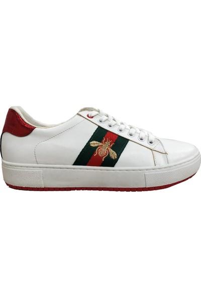 Piolin Bağcıklı Kadın Spor Ayakkabı