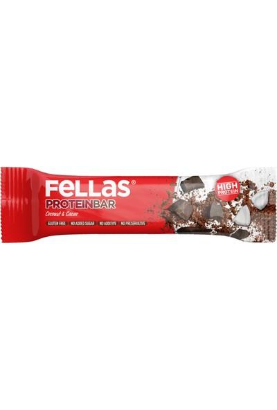 Fellas Yüksek Protein Bar - Hindistan Cevizi ve Kakaolu 45 gr x 12 Adet